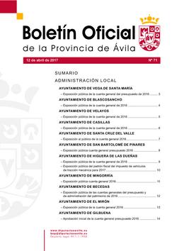 Boletín Oficial de la Provincia del miércoles, 12 de abril de 2017