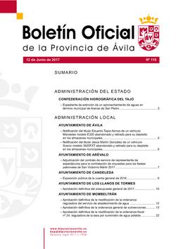 Boletín Oficial de la Provincia del lunes, 12 de junio de 2017