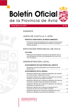 Boletín Oficial de la Provincia del martes, 14 de febrero de 2017