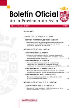 Boletín Oficial de la Provincia del miércoles, 15 de noviembre de 2017