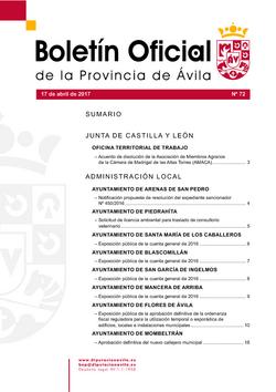 Boletín Oficial de la Provincia del lunes, 17 de abril de 2017