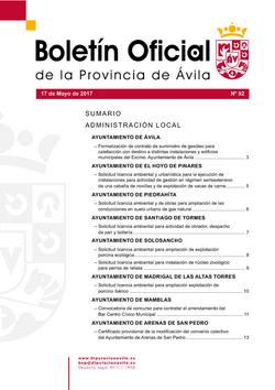 Boletín Oficial de la Provincia del miércoles, 17 de mayo de 2017