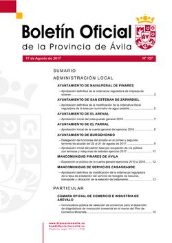 Boletín Oficial de la Provincia del jueves, 17 de agosto de 2017