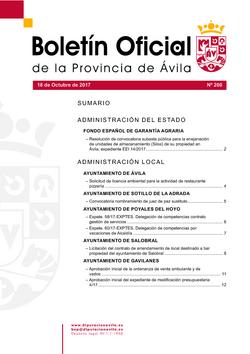 Boletín Oficial de la Provincia del miércoles, 18 de octubre de 2017