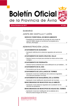 Boletín Oficial de la Provincia del viernes, 20 de octubre de 2017