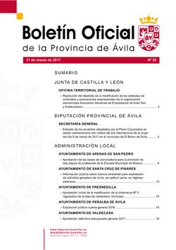 Boletín Oficial de la Provincia del martes, 21 de marzo de 2017
