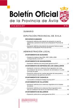 Boletín Oficial de la Provincia del viernes, 21 de abril de 2017