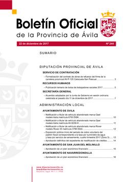 Boletín Oficial de la Provincia del viernes, 22 de diciembre de 2017