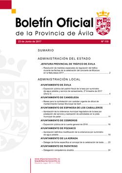 Boletín Oficial de la Provincia del viernes, 23 de junio de 2017