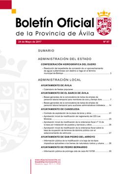 Boletín Oficial de la Provincia del miércoles, 24 de mayo de 2017