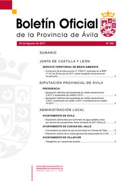Boletín Oficial de la Provincia del jueves, 24 de agosto de 2017