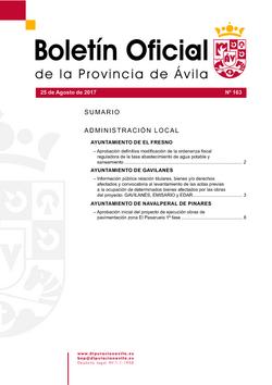 Boletín Oficial de la Provincia del viernes, 25 de agosto de 2017