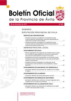Boletín Oficial de la Provincia del martes, 26 de diciembre de 2017