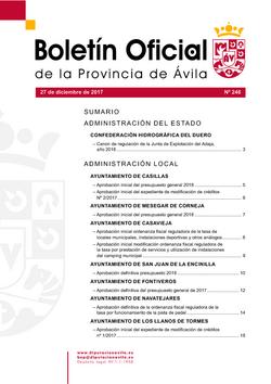 Boletín Oficial de la Provincia del miércoles, 27 de diciembre de 2017