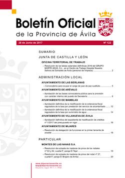 Boletín Oficial de la Provincia del miércoles, 28 de junio de 2017