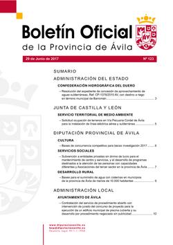 Boletín Oficial de la Provincia del jueves, 29 de junio de 2017