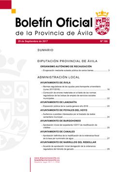 Boletín Oficial de la Provincia del viernes, 29 de septiembre de 2017