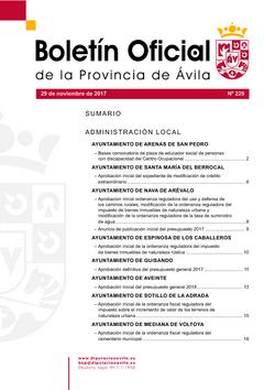 Boletín Oficial de la Provincia del miércoles, 29 de noviembre de 2017