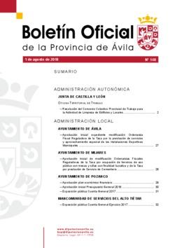 Boletín Oficial de la Provincia del miércoles, 1 de agosto de 2018