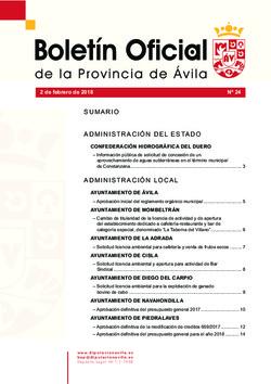 Boletín Oficial de la Provincia del viernes, 2 de febrero de 2018