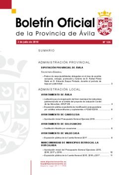 Boletín Oficial de la Provincia del lunes, 2 de julio de 2018