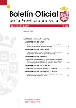 Boletín Oficial de la Provincia del lunes, 3 de septiembre de 2018