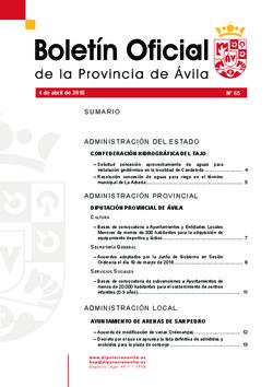 Boletín Oficial de la Provincia del miércoles, 4 de abril de 2018