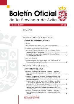 Boletín Oficial de la Provincia del lunes, 4 de junio de 2018