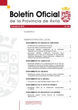 Boletín Oficial de la Provincia del miércoles, 4 de julio de 2018