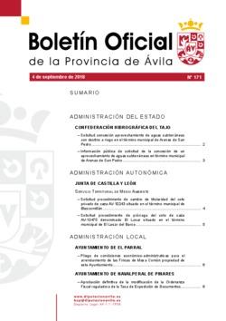 Boletín Oficial de la Provincia del martes, 4 de septiembre de 2018
