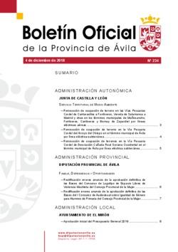 Boletín Oficial de la Provincia del martes, 4 de diciembre de 2018