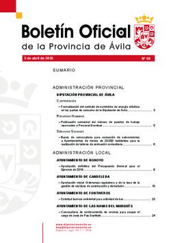 Boletín Oficial de la Provincia del jueves, 5 de abril de 2018