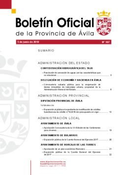 Boletín Oficial de la Provincia del martes, 5 de junio de 2018