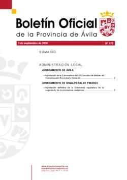 Boletín Oficial de la Provincia del miércoles, 5 de septiembre de 2018