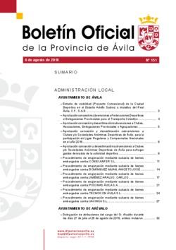 Boletín Oficial de la Provincia del lunes, 6 de agosto de 2018