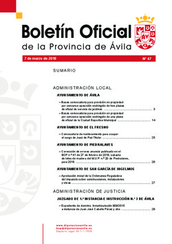 Boletín Oficial de la Provincia del miércoles, 7 de marzo de 2018