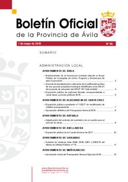 Boletín Oficial de la Provincia del lunes, 7 de mayo de 2018