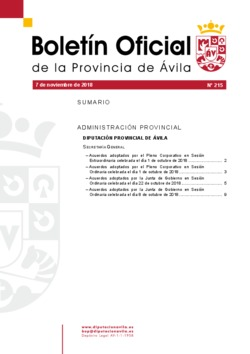 Boletín Oficial de la Provincia del miércoles, 7 de noviembre de 2018