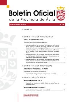 Boletín Oficial de la Provincia del viernes, 7 de diciembre de 2018