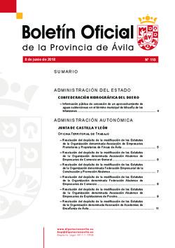 Boletín Oficial de la Provincia del viernes, 8 de junio de 2018