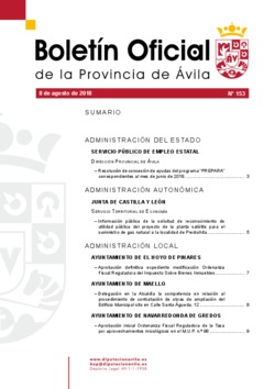 Boletín Oficial de la Provincia del miércoles, 8 de agosto de 2018