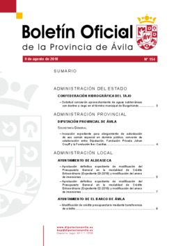 Boletín Oficial de la Provincia del jueves, 9 de agosto de 2018