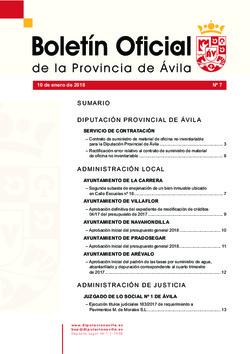 Boletín Oficial de la Provincia del miércoles, 10 de enero de 2018