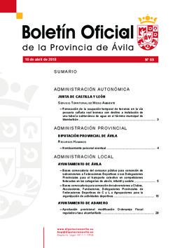 Boletín Oficial de la Provincia del martes, 10 de abril de 2018