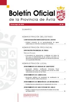 Boletín Oficial de la Provincia del jueves, 10 de mayo de 2018