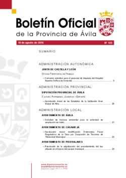 Boletín Oficial de la Provincia del viernes, 10 de agosto de 2018