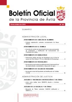 Boletín Oficial de la Provincia del miércoles, 10 de octubre de 2018