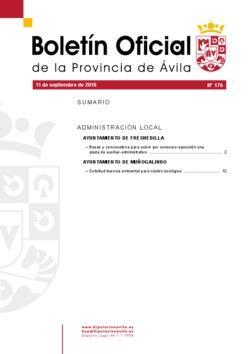 Boletín Oficial de la Provincia del martes, 11 de septiembre de 2018