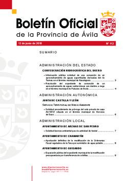 Boletín Oficial de la Provincia del martes, 12 de junio de 2018