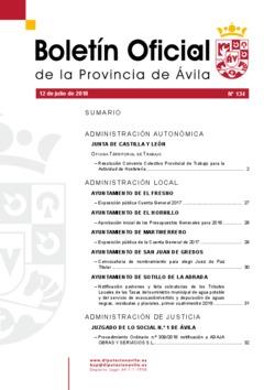 Boletín Oficial de la Provincia del jueves, 12 de julio de 2018